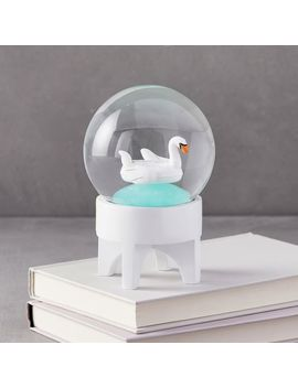 Swan Pool Float Snow Globe by West Elm