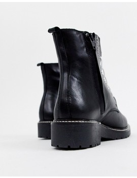 Depp Leather Chunky Lace Up Boots by Shoes