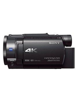 """Sony Handycam Fdr Ax33 4 Kuhd   Videocámara (Pantalla De 3"""", Zoom óptico 10x, Estabilizador óptico), Negro by Sony"""