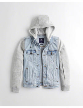 Hooded Denim Jacket by Hollister