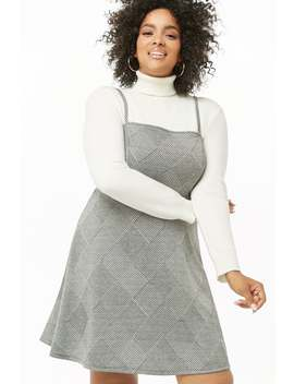 Plus Size Glen Plaid Cami Dress by Forever 21