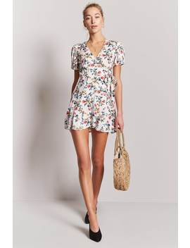 Floral Wrap Dress by Forever 21