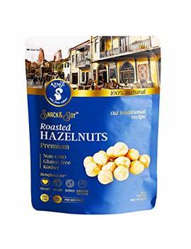 Aznut Roasted Hazelnuts Natural Non Gmo, Premium Quality, Gluten Free, Kosher Resealable Bag Snack&Joy Sweet Crunchy Taste, Healthy Snack... by Aznut