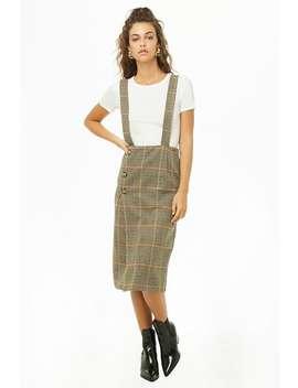 Glen Check Suspender Skirt by Forever 21