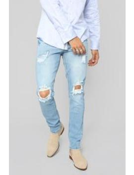Andret Skinny Jeans   Light Blue Wash by Fashion Nova