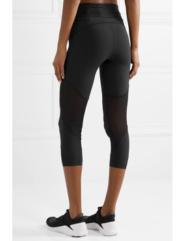 Fly Lux Cropped Mesh Paneled Stretch Leggings by Nike