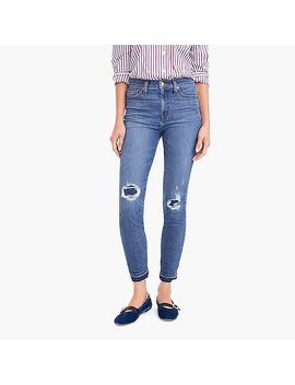 "9"" Toothpick Jean In Rip & Repair Wash by J.Crew"