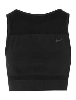 Cropped Stretch Dri Fit Tank by Nike