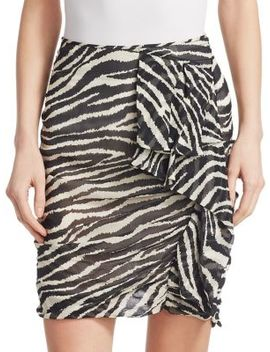 Gerene Zebra Print Ruched Mini Skirt by Isabel Marant Etoile