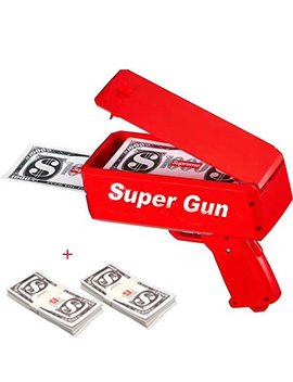 Eawe Money Gun Paper Playing Money Spary Money Gun Make It Rain Money Gun Drop Red by Eawe
