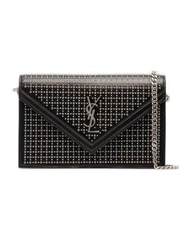 Leather Stud Le Sept Envelope Bag by Saint Laurent