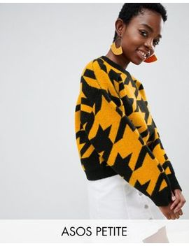 Asos Design – Petite – Pullover Mit Hahnentrittmuster by Asos