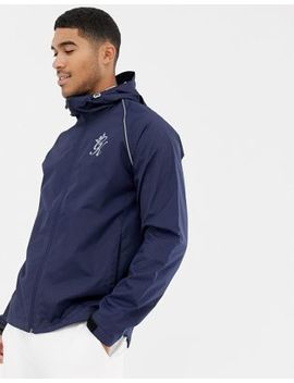 Gym King Hooded Windbreaker In Navy by Gym King