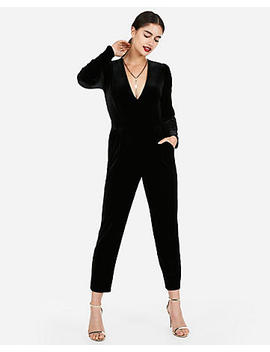 Long Sleeve Velvet Jumpsuit by Express