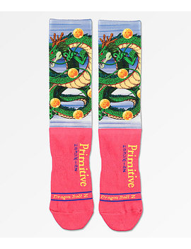 Primitive X Dragon Ball Z Shenron Red Crew Socks by Primitive