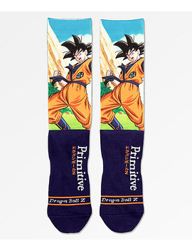 Primitive X Dragon Ball Z Goku Navy Crew Socks by Primitive