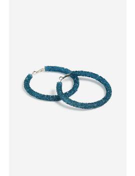 **Stone Wrapped Hoop Earrings by Topshop