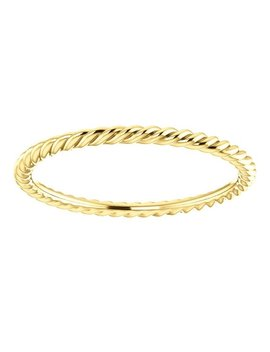 Twisted Solid 18k Gold Ring by Etsy