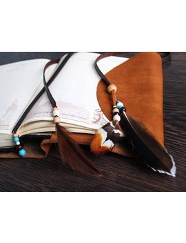 Rustic Diary Planner Bible Leather Wrap Cover Agenda A5 Notebook Case Bohemian Feather Refillable Journal by Etsy