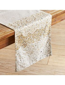 Gold & Silver Shimmer Sparkle Table Runner by Pier1 Imports