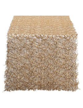 "Gold Sequin 16""X120"" Table Runner by Pier1 Imports"