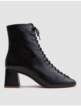 Becca Boot In Black Leather by By Far Shoes