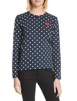 Red Heart Polka Dot Tee by Comme Des GarÇons Play