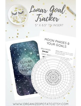 "Lunar Goal Tracker (5 X 8.5"" Tn Insert / Booklet)   Diy Lunar Calendar (Moon Cycles), Minimalist Tracker, Instant Digital Download, Pdf by Etsy"