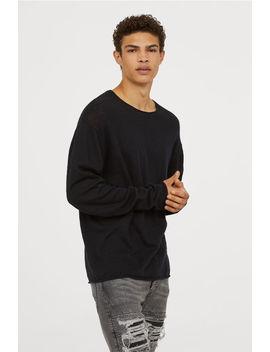 Sweter O Nierównym Włóknie by H&M