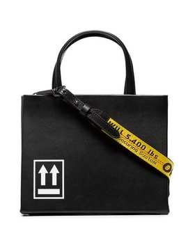 Black Box Small Printed Leather Tote by Off White