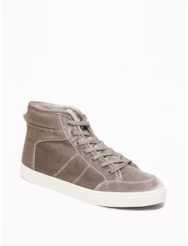 Sherpa Lined Velvet High Tops For Women by Old Navy