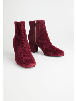 Velvet Corduroy Ankle Boots by & Other Stories