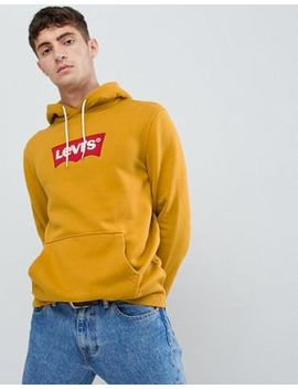 Levi's Box Logo Hoodie Mustard by Levi's