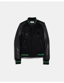 Viper Room Varsity Jacket With Patches by Coach