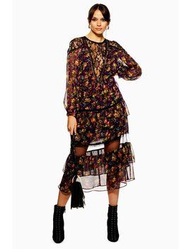 Lace Trim Midaxi Dress by Topshop