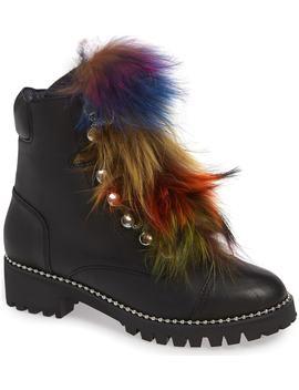 Trekker Genuine Fox Fur Trim Boot by Cecelia New York