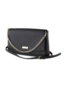 Laurel Way Greer Shoulder Clutch Wkru4092 Black Crosshatched Leather Cross Body Bag by Kate Spade