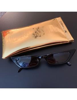 Poppy Lissiman Le Skinny Black Sunglasses Nwt/New by Poppy Lissiman