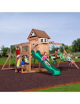 Backyard Discovery Montpelier Cedar Wooden Swing Set by Backyard Discovery