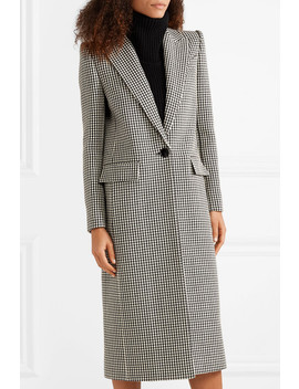 Houndstooth Wool Coat by Givenchy
