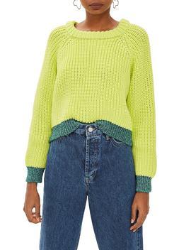 Metallic Trim Sweater by Topshop