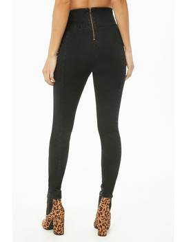 Super Skinny High Rise Banded Jeans by Forever 21