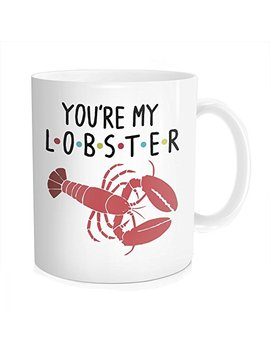 Hasdon Hill You're My Lobster Coffee Mug, Inspired By Friends Tea Cup, Funny Unique Quote Novelty Gift For Husband, Wife, Boyfriend, Anniversary, Christmas, Bone China 11 Oz White by Hasdon Hill