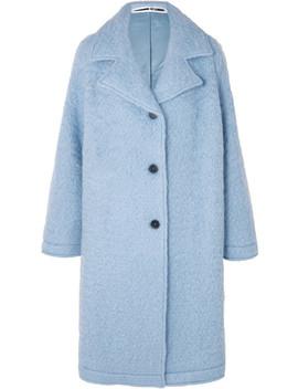 Oversized Wool Blend Bouclé Coat by Mc Q Alexander Mc Queen