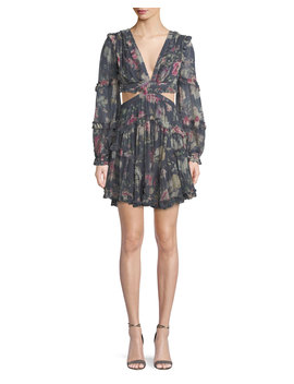 Iris Floral Cutout Mini Dress by Zimmermann