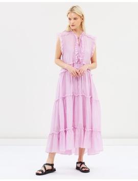 Eva Silk Cotton Tiered Dress by Lee Mathews