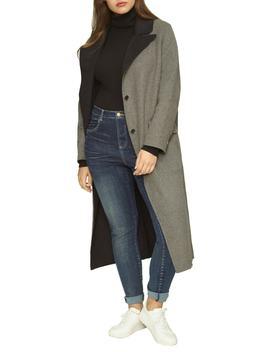 Contrast Wide Lapel Wool Blend Coat by Universal Standard