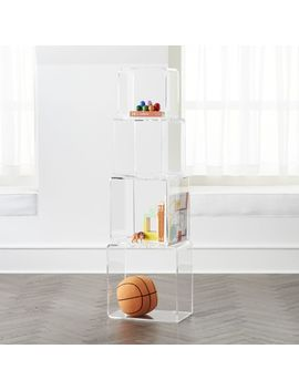 Block Tower Acrylic Bookcase by Crate&Barrel