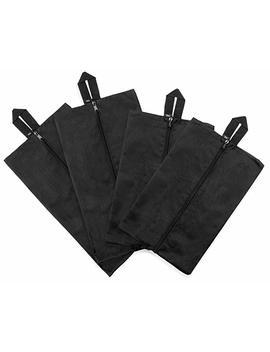 Jv16 Travel Shoe Bags Set Of 4 Waterproof Nylon With Zipper (Black) by Jv16
