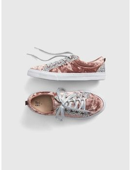 Glitter Velvet Sneakers by Gap